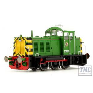 2906 Heljan OO Gauge Class 07 Shunter D2991 BR Eastleigh Works Light Green
