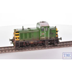 2906 Heljan OO Gauge Class 07 Shunter D2991 BR Eastleigh Works Light Green with Deluxe Weathering by TMC