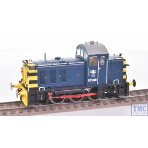 2907 Heljan OO Gauge Class 07 Shunter D2998 BR Blue