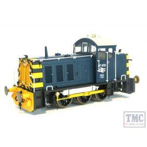 2908 Heljan OO Gauge Class 07 Shunter 07002 BR Blue