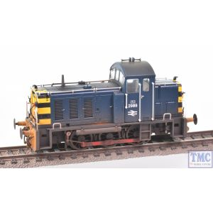 2914 Heljan OO Gauge Class 07 Shunter 2989 BR Blue Weathered by TMC