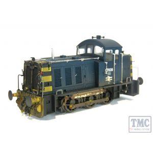 2915 Heljan OO Gauge Class 07 Shunter 07009 BR Blue Factory Weathered