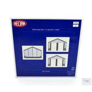 HEL3009502 Heljan O Scale Modern Depot Ends (2 x Open/1 x Closed) Extension Set