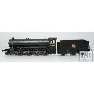 3921 Heljan OO/HO Gauge Class O2/4 Tango 63983 BR Black Early Crest