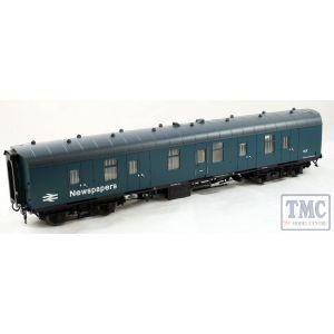 4955 Heljan O Gauge  BR Mk1 57' BG (Brake gangway) blue 'Newspapers'