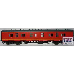 4956 Heljan O Gauge BG BR Mk1 57' BG (Brake gangway) Royal Mail red