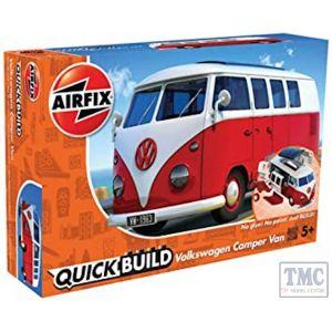 J6017 Airfix QUICKBUILD VW Camper Van red