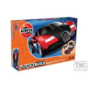 J6020 Airfix QUICKBUILD Bugatti 16.4 Veyron black/red