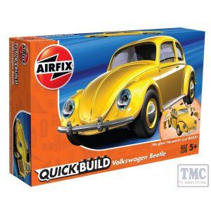 J6023 Airfix QUICKBUILD VW Beetle yellow
