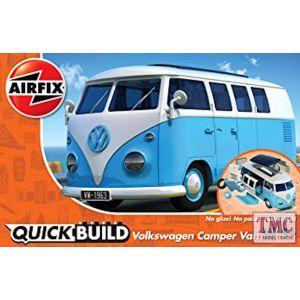J6024 Airfix QUICKBUILD VW Camper Van blue