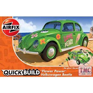 J6031 Airfix QUICKBUILD VW Beetle 'Flower Power'