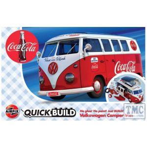J6047 Airfix QUICKBUILD Coca-Cola VW Camper Van
