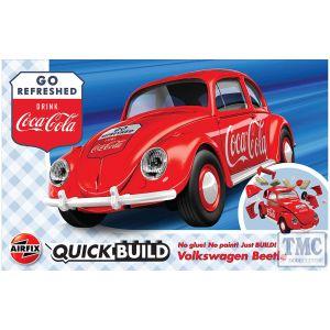 J6048 Airfix QUICKBUILD Coca-Cola VW Beetle