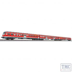 L133154 Liliput HO Scale 3 Car DMU BR 614 DB Red Ep.V