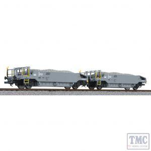 L230111 Liliput HO Scale Ballast Wagon Set with Ballast Load BLS Ep.VI