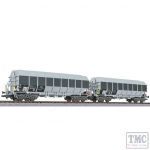 L230152 Liliput HO Scale 2-unit set special transport wagon type Uacos ERMEWA Ep.VI