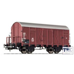 L235095 HO Scale Liliput Covered Goods Wagon with Brake Platform DB Ep.III