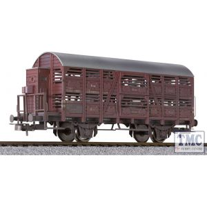 L235116 Liliput HO Scale Cattle Wagon with Brakeman's Cab DB Ep.III Weathered
