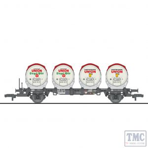 L235121 HO Scale Liliput Flat Wagon BT55ms with Four Beer Tanks Ddikr 624 DB Ep.IV