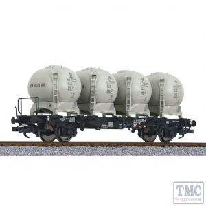 L235130 Liliput HO Scale Flat Wagon with Four Containers LBs584 DB Ep.IV
