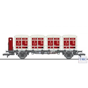 L235140 Liliput HO Scale Flat Wagon BT55 with Four ContainersæEkrt 231 DB Ep.III