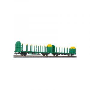 L235244 Liliput HO Scale Timber Carrier Wagon VTG grŸn-gelb