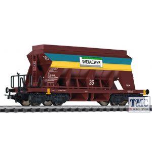 L235541 HO Scale Liliput Hopper Wagon 'Weiacher Kiss' Yellow & Blue SBB Ep.VI