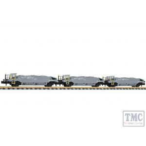 L260102 Liliput N Scale Hopper Wagon Set with Ballast Load SBB Ep.V