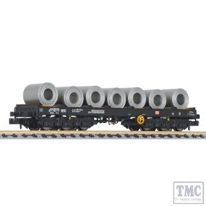 L265769 Liliput N Scale Steel Transport Wagon with Steel Coil Load DB Ep.IV/V