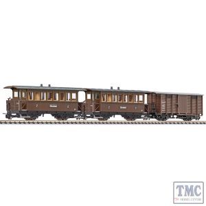 L340018 Liliput HOe Scale 3-Unit Set 2-Axle Coach B16/AB Freightwg. Gwk101 Zillertal Ep.III