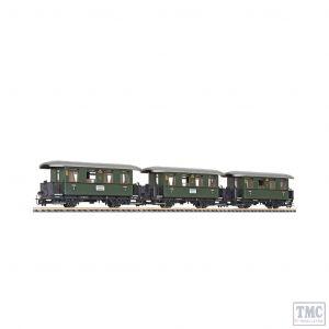 L340500 Liliput HOe Scale 3-unit set coaches …chslebahn