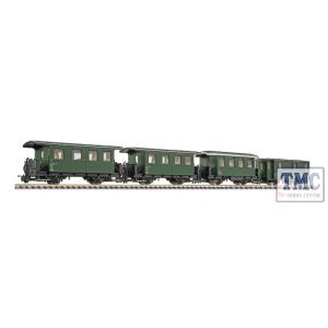 L340506 Liliput HOe Scale 4-unit set,2-axle coach,…BB,Ep.III-IV,add. to L340505