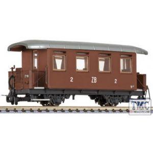 L344364 Liliput HOe Scale 2-axle coach, B27, Zillertalbahn, Ep.III