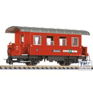 L344365 Liliput HOe Scale 2-axle coach, B 25, WC wagon, Gemeinde Tux, Zillertalbahn, Ep.VI