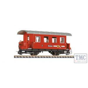 L344366 Liliput HOe Scale 2-axle coach, AB 1, Ramsau/Hippach, Zillertalbahn, Ep.VI