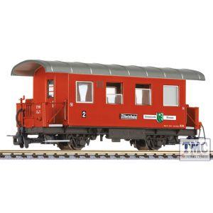 L344367 Liliput HOe Scale 2-axle coach, B 24, Gemeinde Strass, Zillertalbahn, Ep.VI