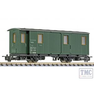 L344430 Liliput HOe Scale 2-axle baggage car D/s 6408, green