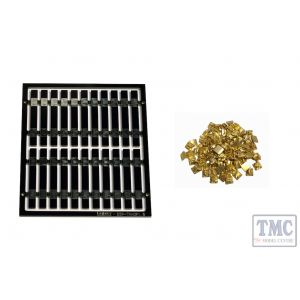 LM-TK2 DCC Concepts Legacy Models – 20x Pre-Etched Sleepers 1.6mm (4mm scale) + 20 Brass Chairs