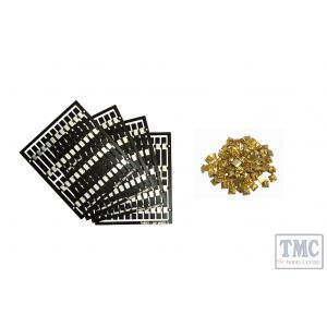 LM-TK3 DCC Concepts Legacy Models – 80x Pre-Etched Sleepers 1.6mm (4mm scale) + 80 Brass Chairs
