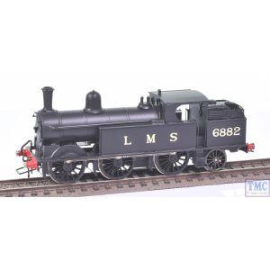 London Road Models OO Gauge Watford Tank 0-6-2T no.6882 LMS Black (Kit Built)(Never Run)(Pre-owned)