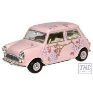 MIN014N Oxford Diecast O Gauge Mini Car Pink Floral Wedding Wrap