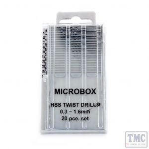 MM019 Bachmann Modelmaker 20 Piece Microbox Drill Set (0.3−1.6mm)
