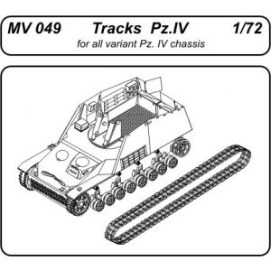 Czech Master 1:72 Tracks for Pz.IV and variant No MV 049 (Pre owned)