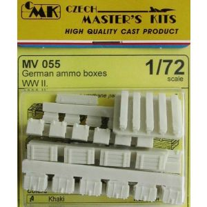 Czech Master 1/72 MV 055 German Ammo Boxes (Pre owned)