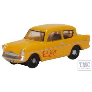 N105008 Oxford Diecast N Gauge Ford Anglia Yellow (Vyv)