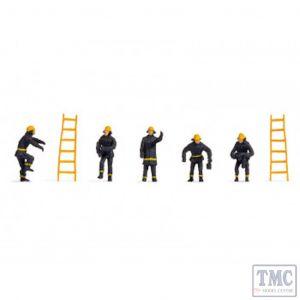 N18001 Noch OO Gauge Firemen (5) & Ladders (2) Hobby Figure Set