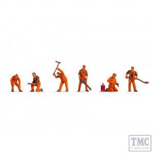 N18012 Noch OO Gauge Track Workers (6) Hobby Figure Set