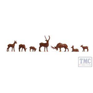 N18211 Noch OO Gauge Deer (7) Hobby Figure Set
