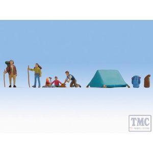 N36876 Noch N Scale Camping (4) Figure Set
