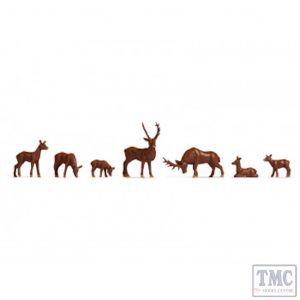 N38211 Noch N Gauge Deer (7) Hobby Figure Set